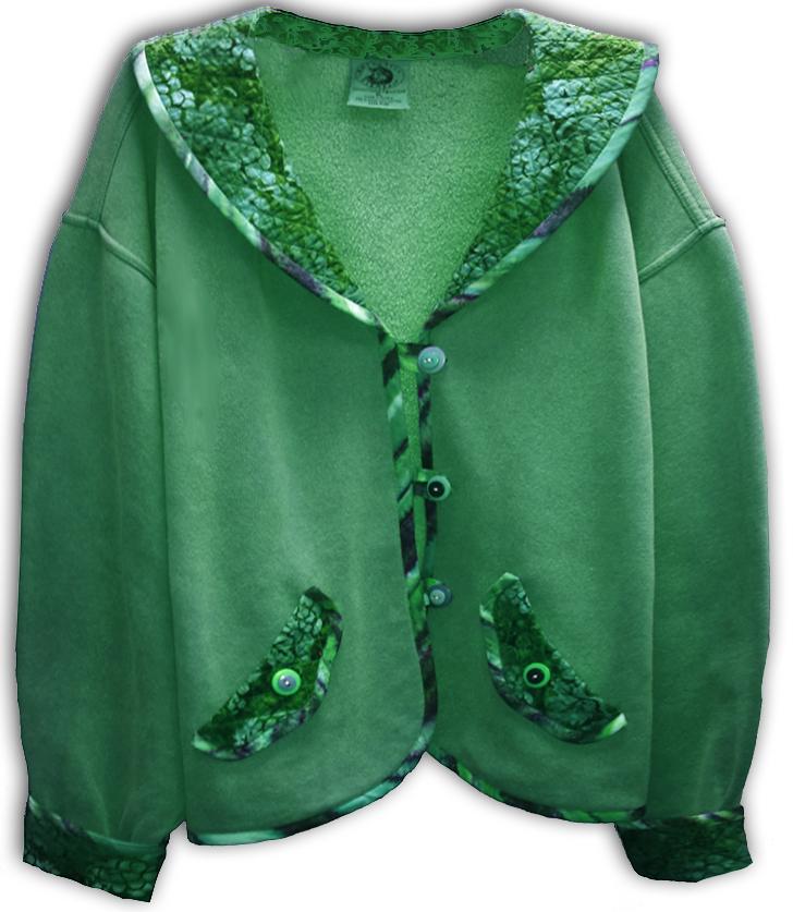 California Batik Collar Coat