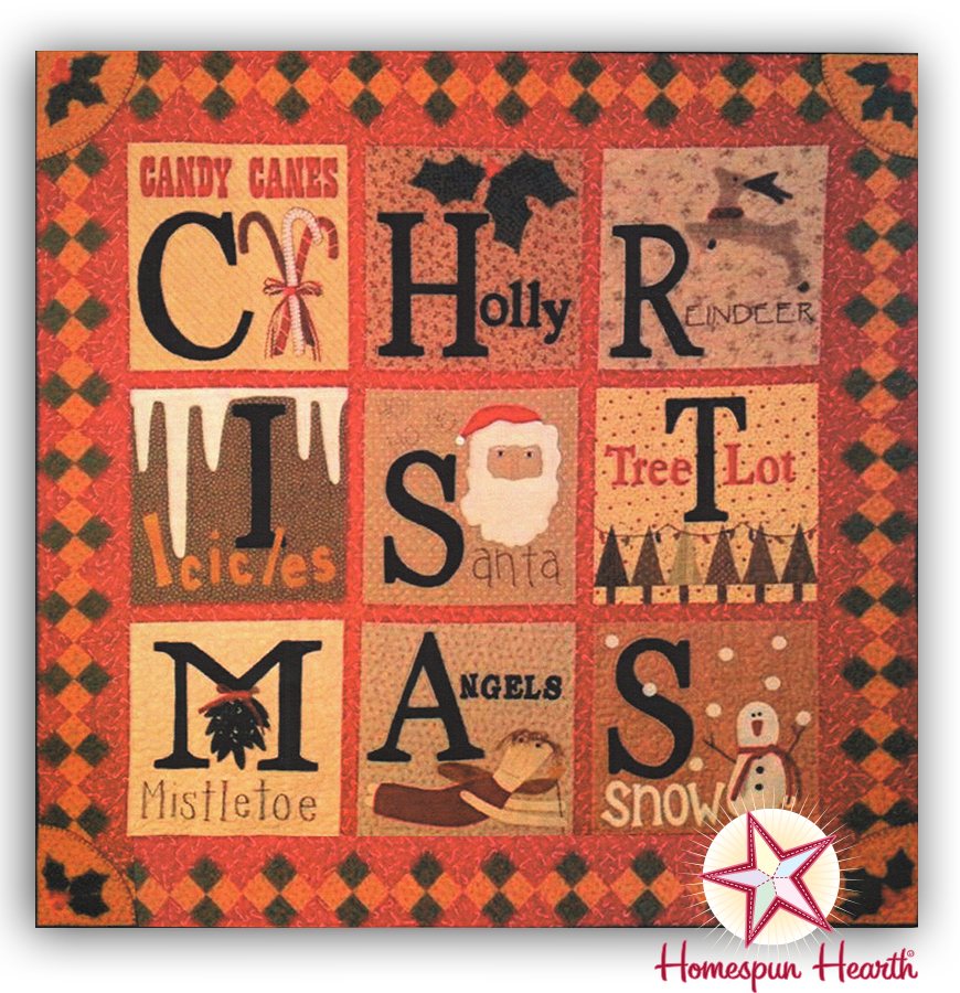 Christmas Traditions Wool Applique Block of the Month - Start Anytime! by  Norma Whaley