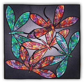 Dance of the Dragonflies Quilt Kit & Optional Swarovski Hotfix Crystal Set