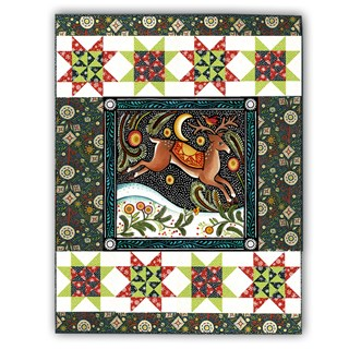 Last One!  Winter Wall Hanging Quilt Kit & Extra Panel- The Four Seasons, by In the Beginning