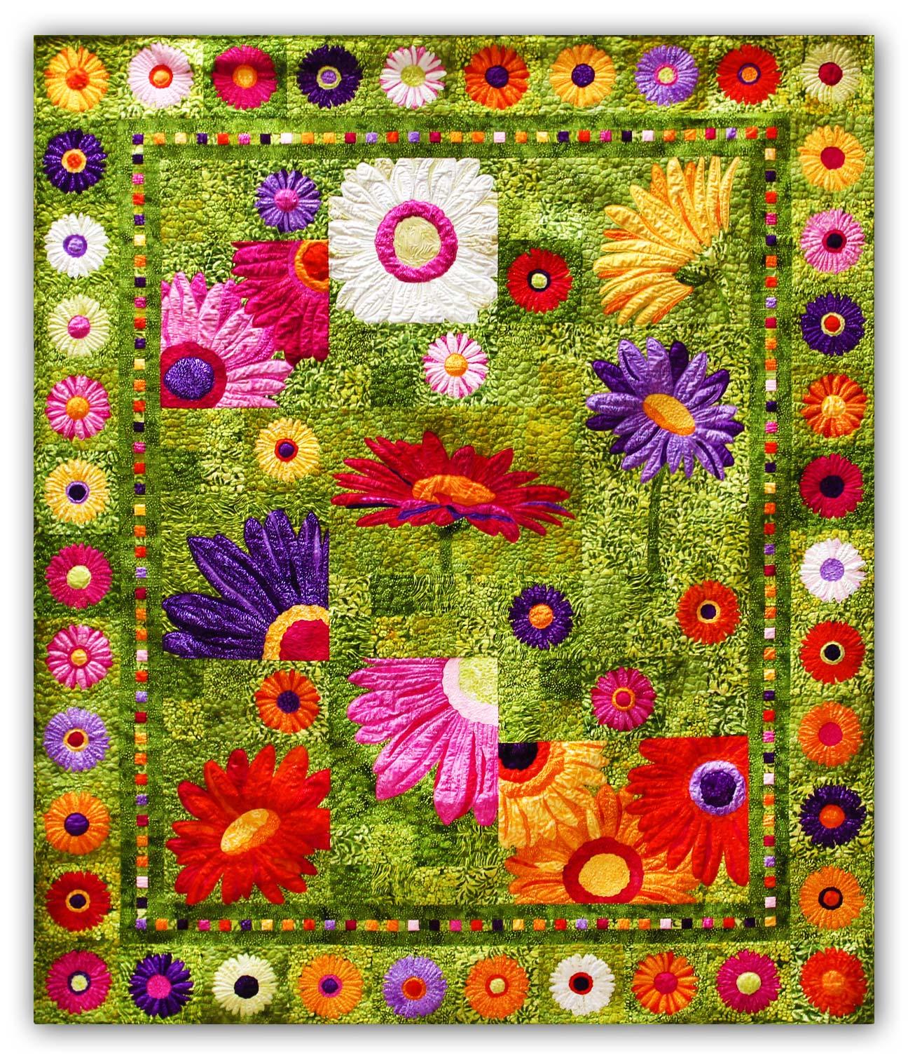 Full Bloom Batik Quilt Kit By 4th & 6th
