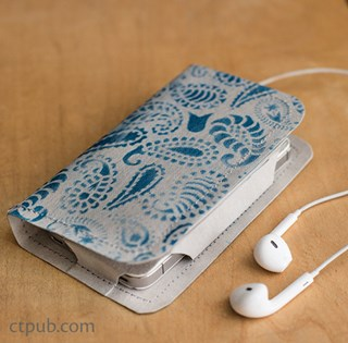 Free Cell Phone Wallet Pattern from CT Pub