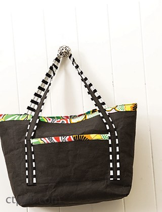 Free Lined Tote Pattern from CT Pub