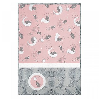 Lucky Stars Blush Baby Minky Cuddle Quilt Kit