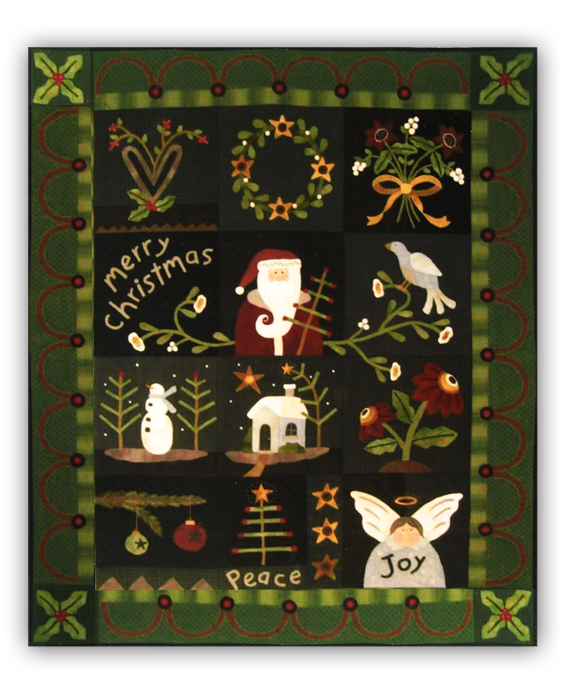 Christmas Quilt.Last One Merry Christmas Quilt Flannel Row Of The Month Or All At Once By Heart To Hand
