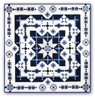 Midwinter Blues Batik King Size is Back!   Block of the Month or All at OnceStart Anytime!