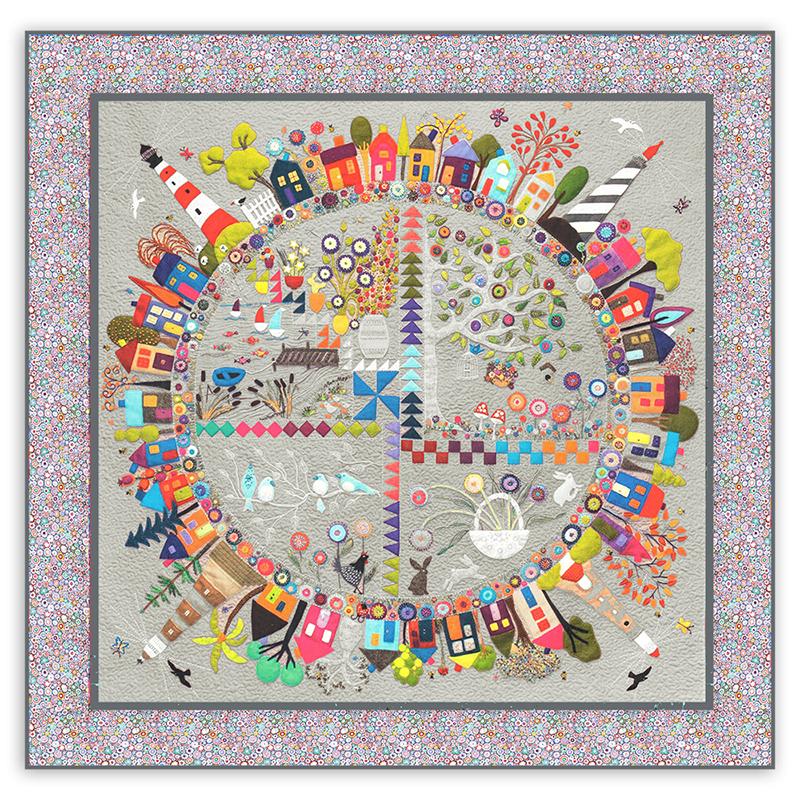 New Round The Garden Customized Quilt Kit Silk Matka