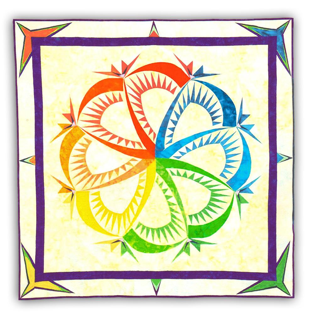 Paper Pieced Quilt Patterns Kits: Sf Sensibilities Batik Paper Pieced Quilt Kit By Deb Karasik