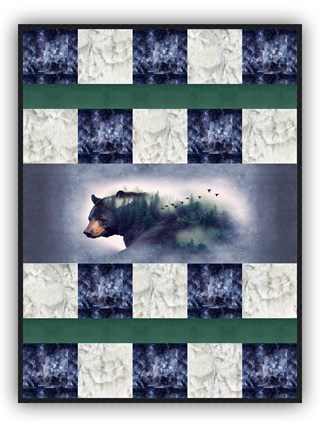 Bear Morning Deluxe Minky Quilt Kit