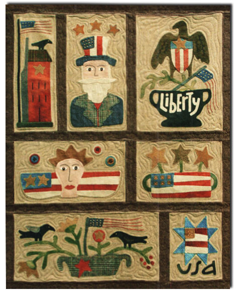 ALMOST GONE! Spirit of America Wool & Silk Quilt Kit Block of the  MonthStart Anytime! by Buttermilk Basin ~ Staci West