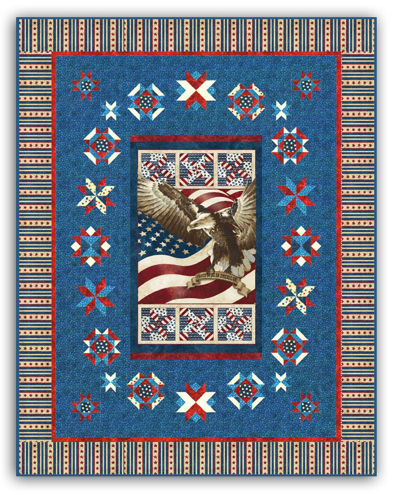 Proud to Be an American Quilt Kit