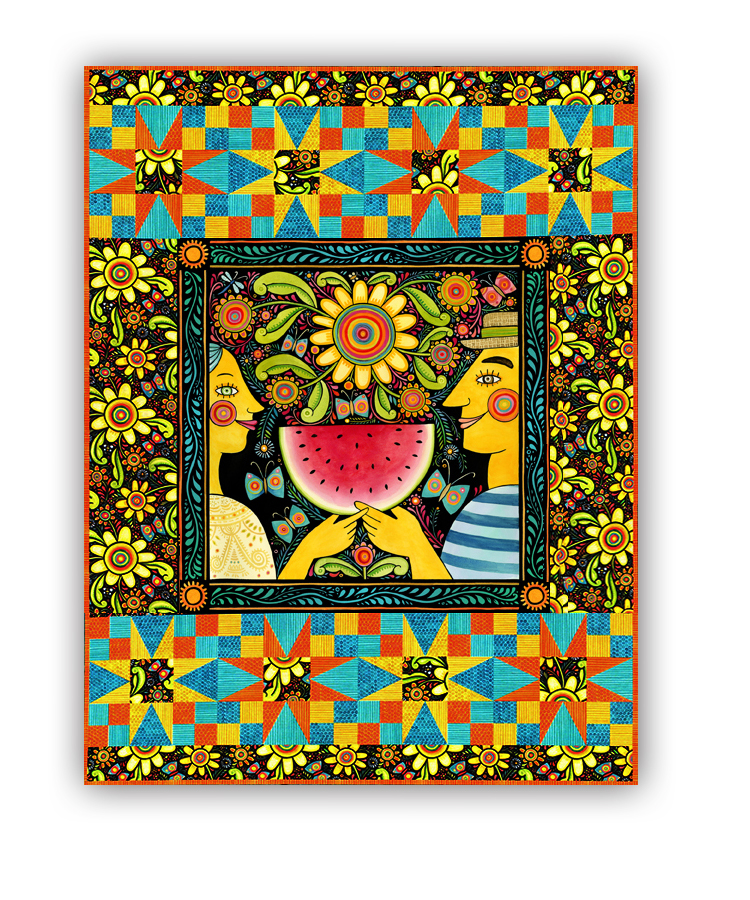 Summer Wall Hanging Quilt Kit & Pillow- The Four Seasons, by In the