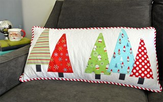 Tree Hugger Pillow Pattern by Cut Loose Press - Optional Ruler