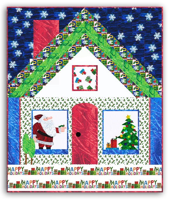 Free Christmas Quilt Patterns To Download.The Very Good And Hungry Caterpillar Christmas Quilt Pattern Download By Homespun Hearth Exclusive Design