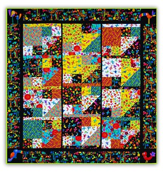 Viva Brazil Quilt Kit - One, Two, Three, Go!