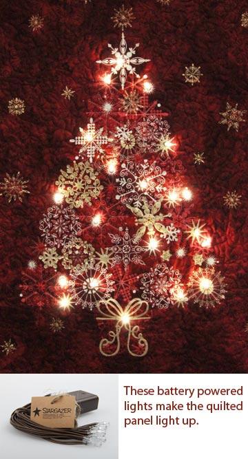 Red Lite Up Christmas Tree Panel Kit