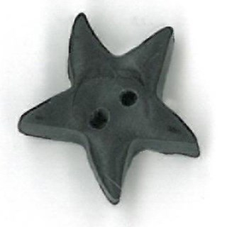 Medium Black Star by  Just Another Button Company