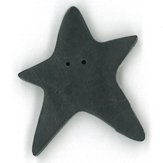 Extra Large Black Star by  Just Another Button Company