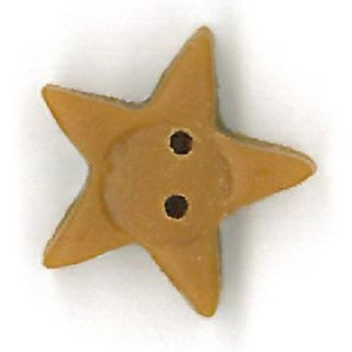 Medium Tarnished Glold Star by  Just Another Button Company