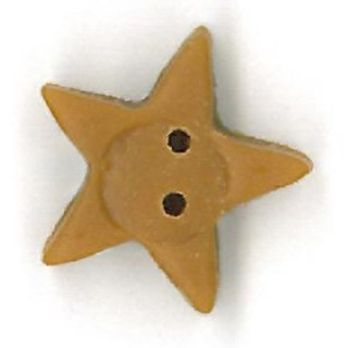 LargeTarnished Glold Star by  Just Another Button Company