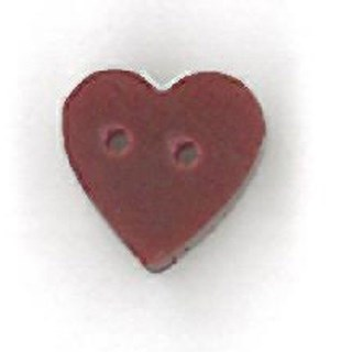 Teeny Tiny Folk Art Heart Button by Just Another Button Company