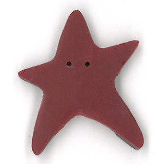 Extra Large Folk Art Red Star by  Just Another Button Company