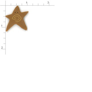 Extra Large Tarnished Gold Swirly Star by  Just Another Button Company