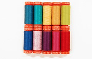 Laurel Burch Aurifil Thread Assortment Pack - 10 Small Spools