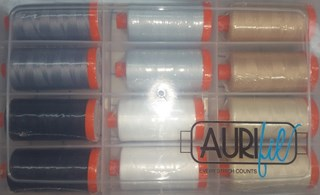 Aurifil Thread - The Homespun Hearth Neutrals Collection