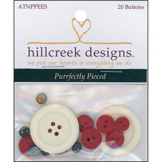 Purrfectly Pieced Button Pack (20)