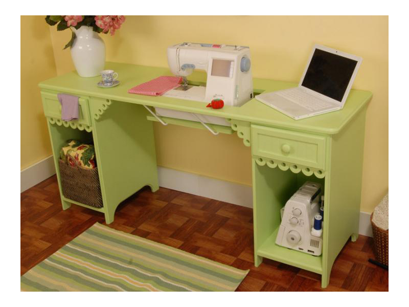 Pistachio Olivia Sewing Machine Table Desk By Arrow