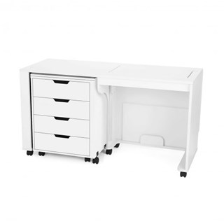 Lavern & Shirley White Cabinet - Closed