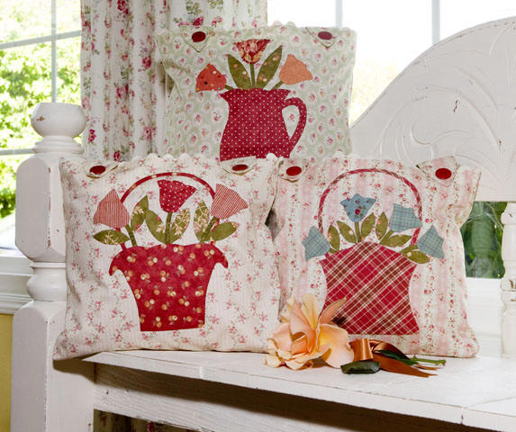 Flowers For Emma Pillow Pattern By Bunny Hill Designs