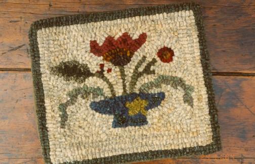 Folkart Blooms Rug Hooking Pattern By Buttermilk Basin