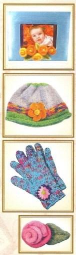 Vintage Find!  Felted Flowers Pattern BookletKindred Spirits
