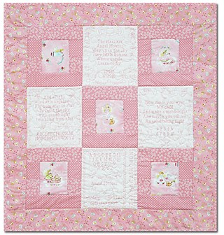 Angel Houses Baby Girl Quilt Kit Last One By Butterfly