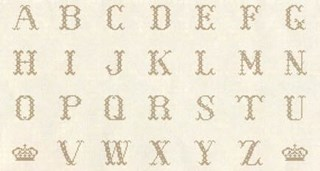 Vintage Find!  Cross-Stitch Alphabet Bronze - 24