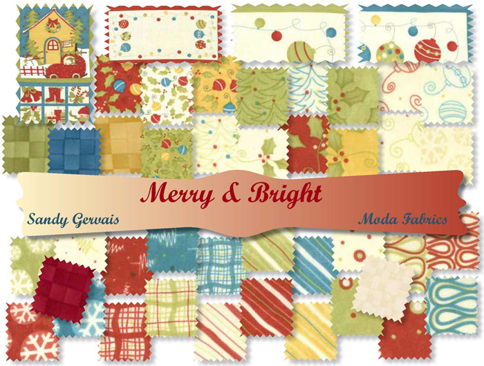 Moda S Quilting Fabric Merry Amp Bright 24 Quot Panel By
