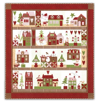 Mistletoe Lane Quilt Kit - Block of the Month or All at Once