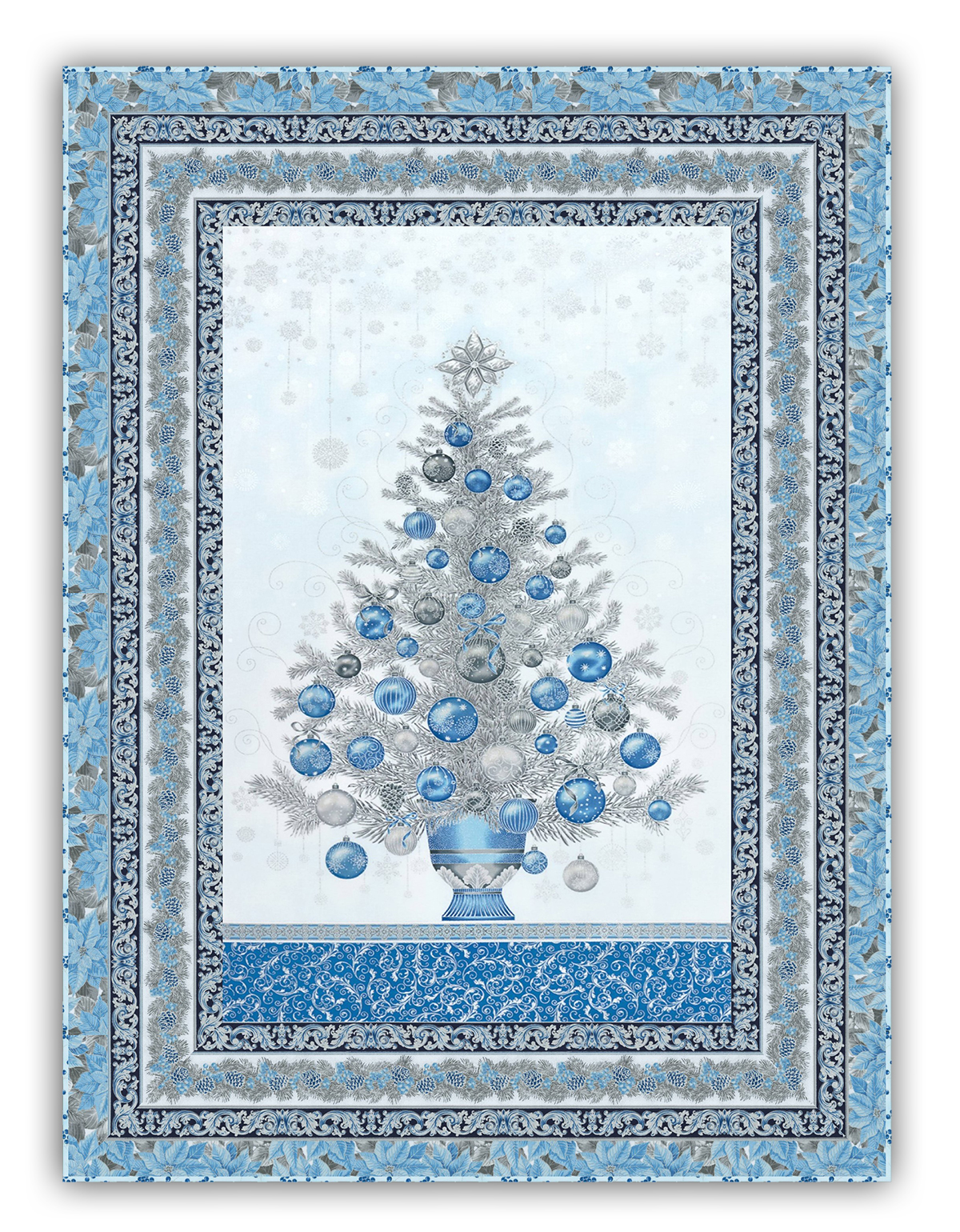 Holiday Flourish Christmas Tree Wall Hanging Quilt With Optional Deluxe Swarovski Crystal Package By Homespun Hearth Exclusive Design