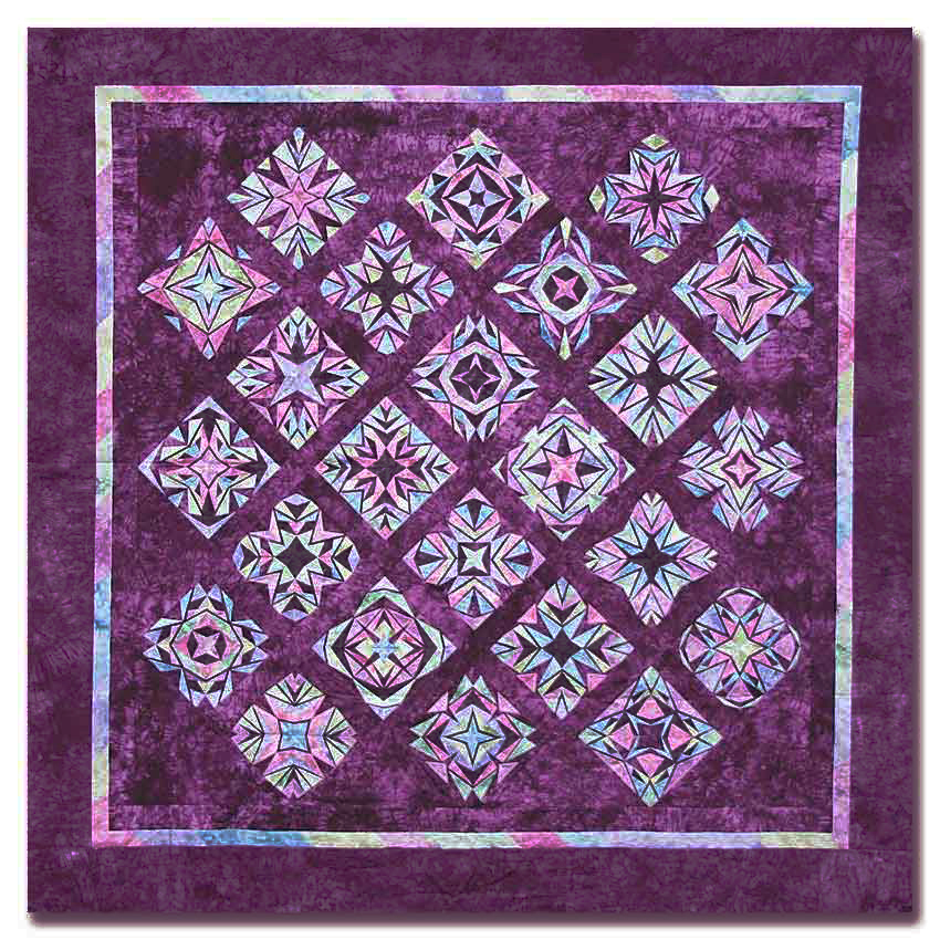 Crystal Reflections King Size Quilt Kit All At Once