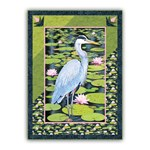 The Silent Blue Heron Wall Hanging Exclusive Homespun Hearth Kit!