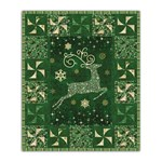 Up Up and Away!  Green Reindeer Quilt Kit with lights and Optional Swarovski Hot Fix Cyrstal Pack