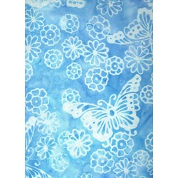 Morning Butterflies - Blue - Batiks  by Michael Miller Fabrics