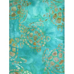 Sea Turtles - Aqua - Batiks  by Michael Miller Fabrics