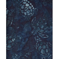 Sea Turtles - Navy - Batiks  by Michael Miller Fabrics