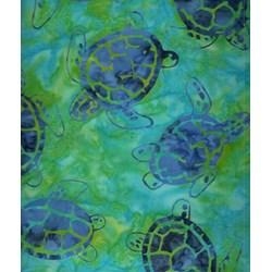 Sea Turtles -Sea Shore - Batiks  by Michael Miller Fabrics