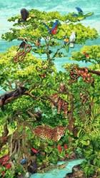 Rainforest Romp- Panel - by Linda Ludovico for Stonehenge