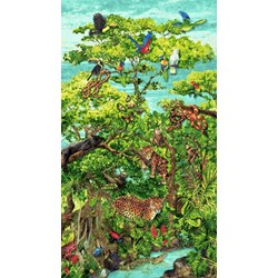 Rainforest Romp- Panel - by Linda Ludovico for Stonehenge