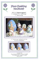 Eggstravaganza Pattern - Plum Pudding Needleart